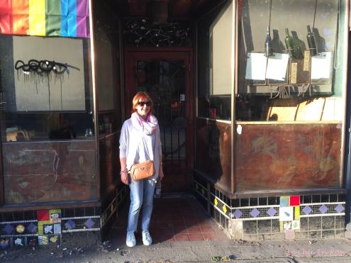 Old cafe doorway