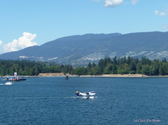 View from Canada Wharf - seaplane about to take off